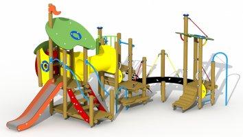 Impianti Gioco Baby in legno_GEAF018